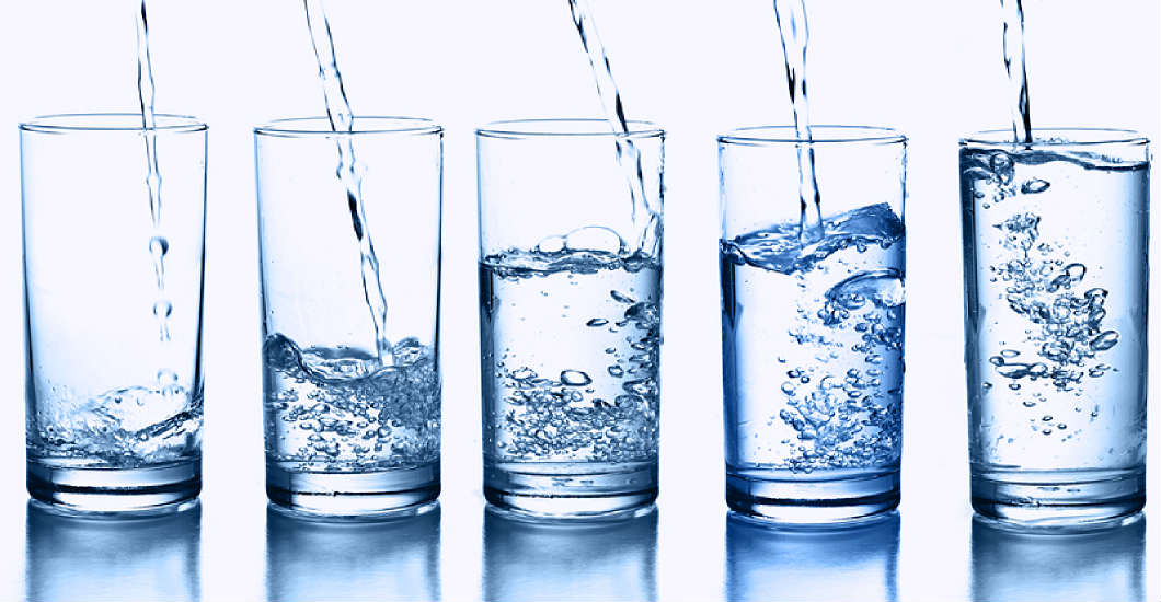 5 glasses water