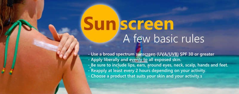 Sunscreen basic rules